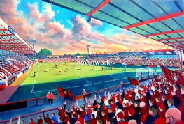 Hand Painted original of dean court